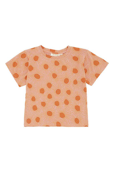 T-shirt Dominique Peach Bloom Aop Sunshine