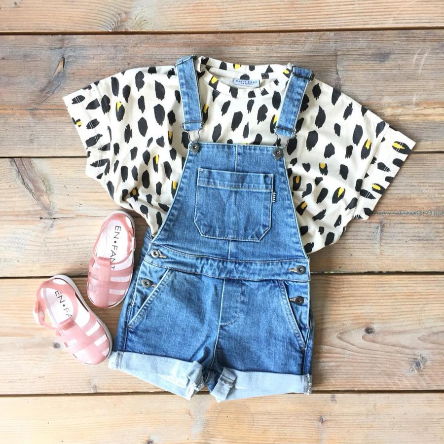 Oversized t-shirt Leopard Dusty Ivory