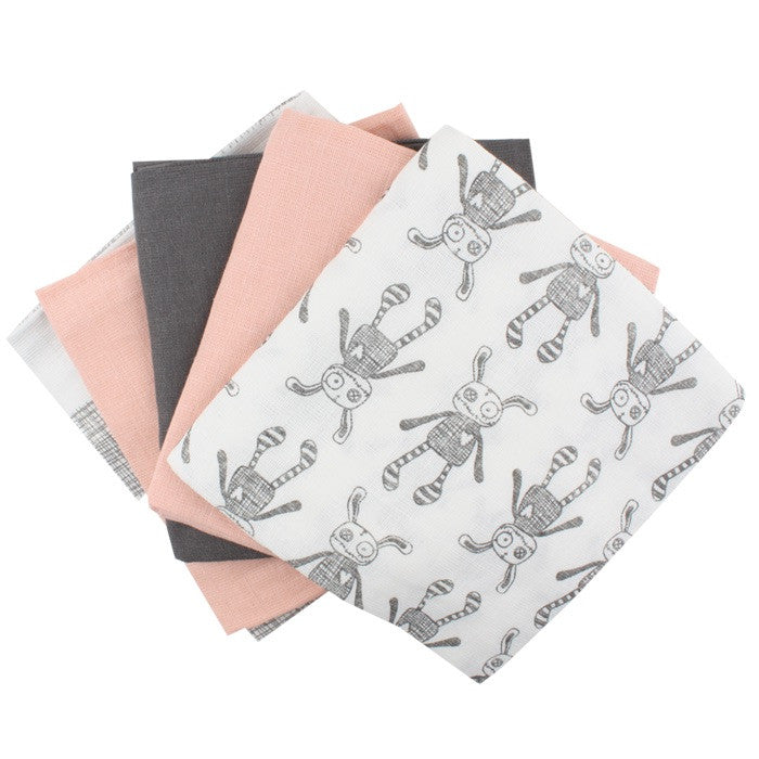 Small Rags swaddle set roze