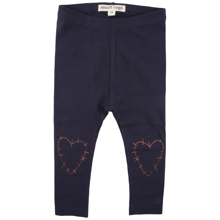 Legging Hearts Navy mini