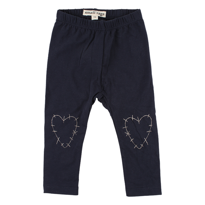 Legging Hearts Night Blue mini
