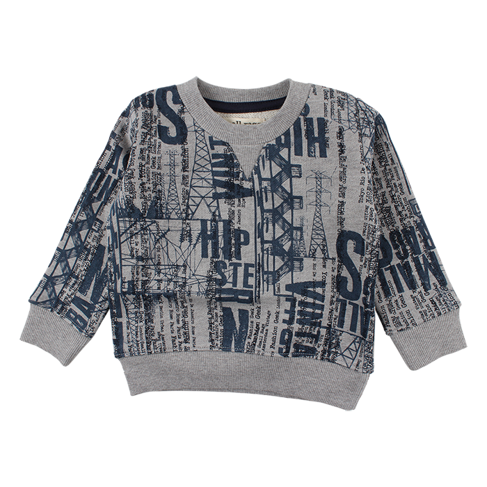 Sweater Grey Print mini