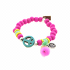 Chicks From Heaven Armband Peace Fluorroze