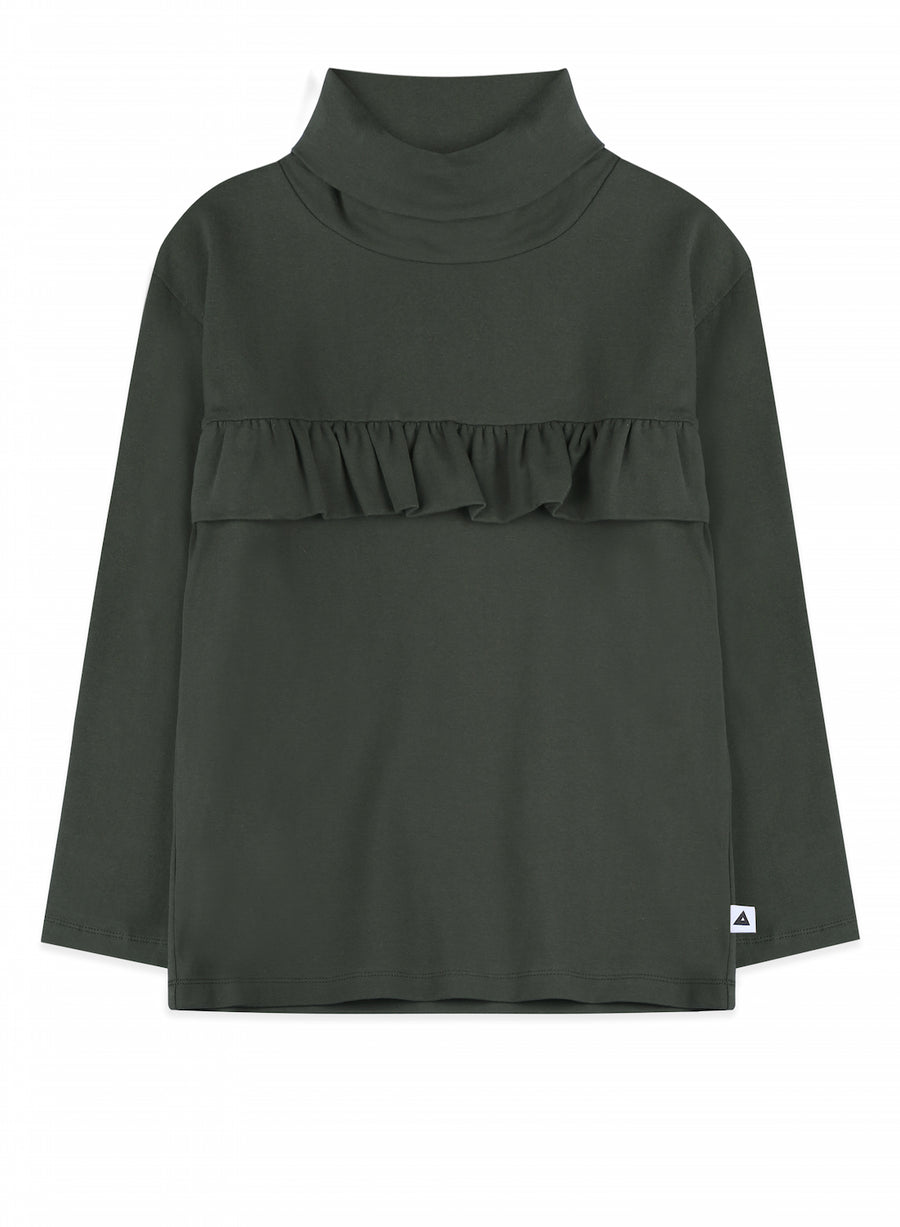 Turtle Neck Top Coco Dark Army