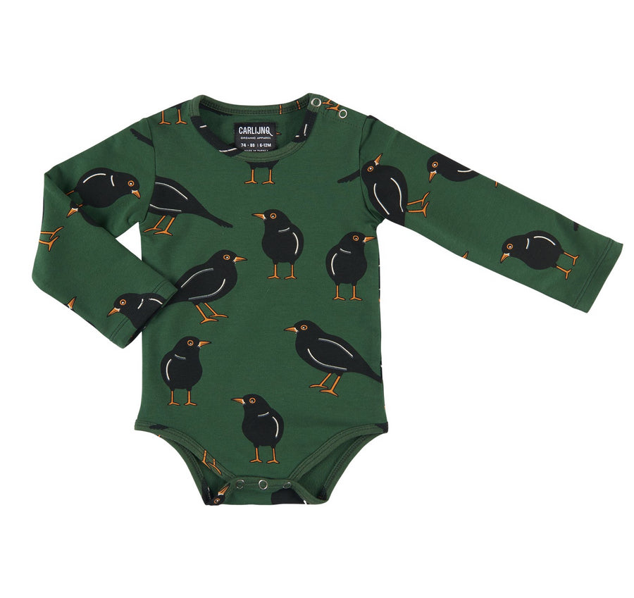 Carlijnq Bodysuit Black Bird