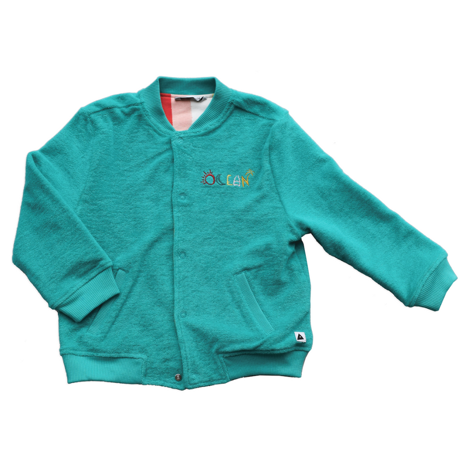 Reversible Bomber Jacket Ocean Green