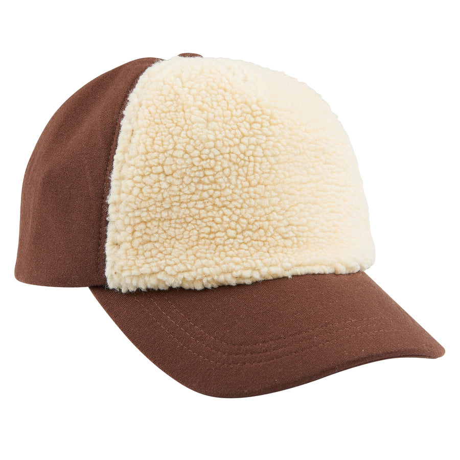 Cap Brown fake fur