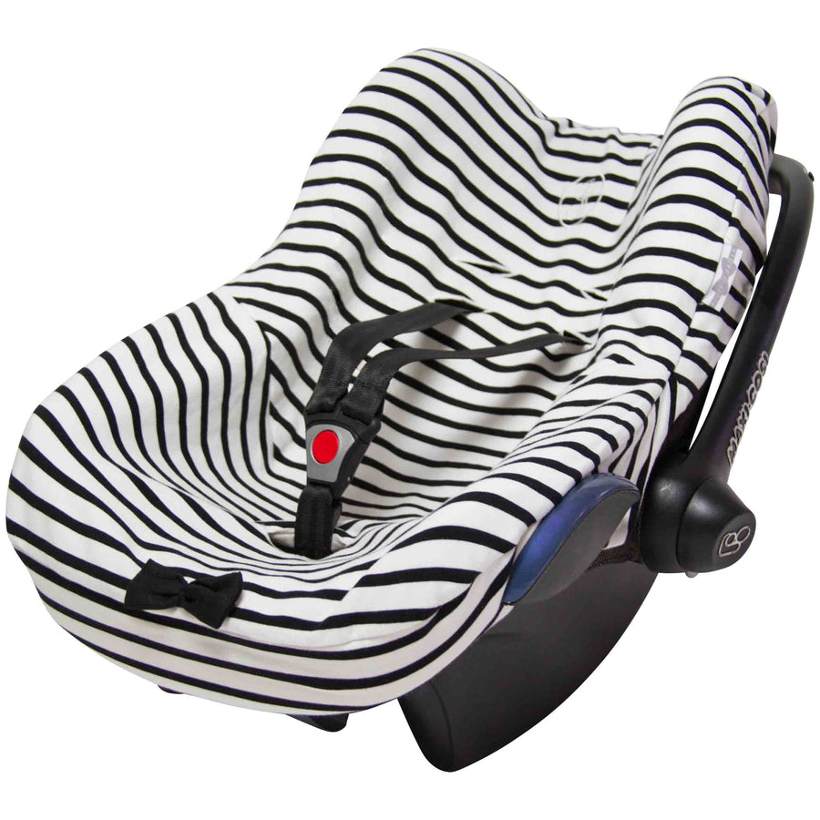 Car Seat Cover - Breton Black & Stone