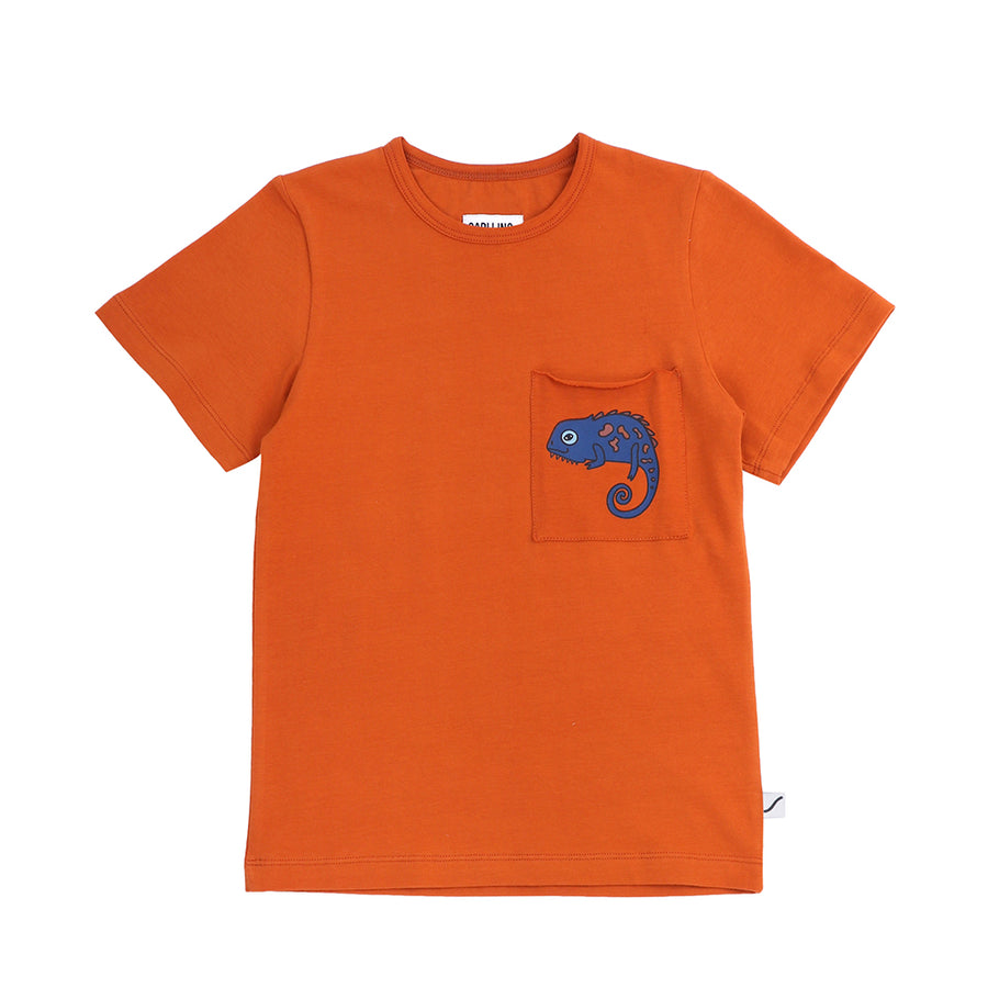T-shirt chameleon with pocket