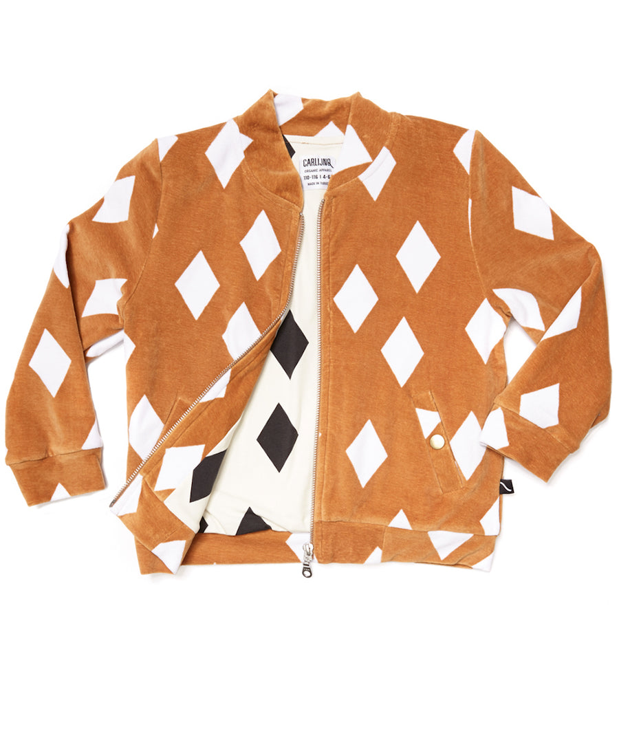 Bomber Jacket Diamonds Ochre