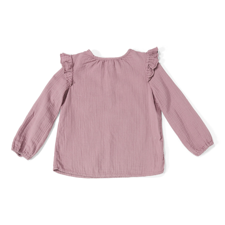 Top Luna Ruffle Dusty Lilac