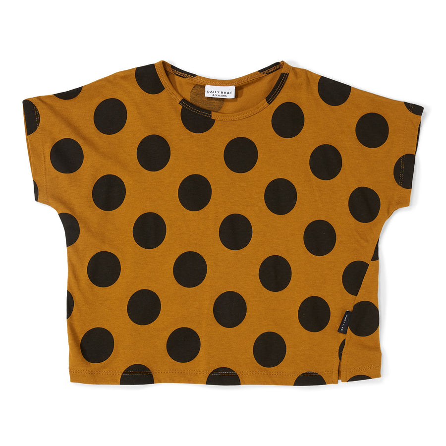 Oversized T-shirt Polka Dot Sandstone Black