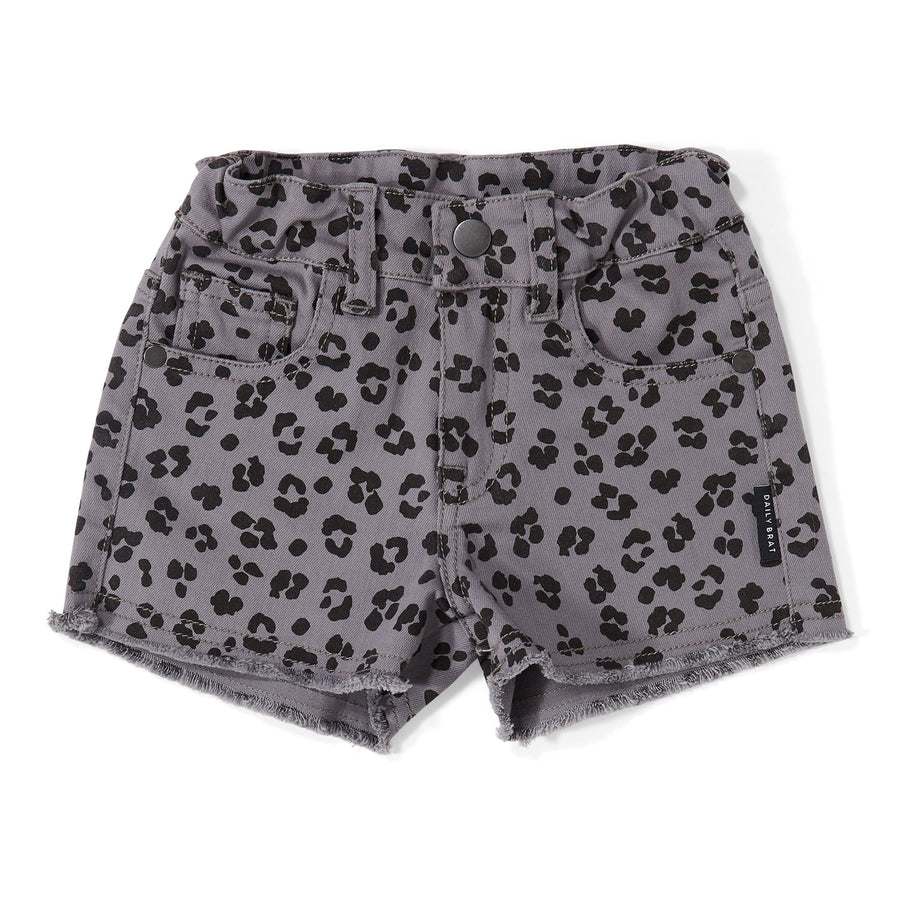 Short Riley Leopard Soft Dusk
