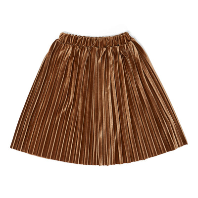 Skirt Donna plisse moss brown