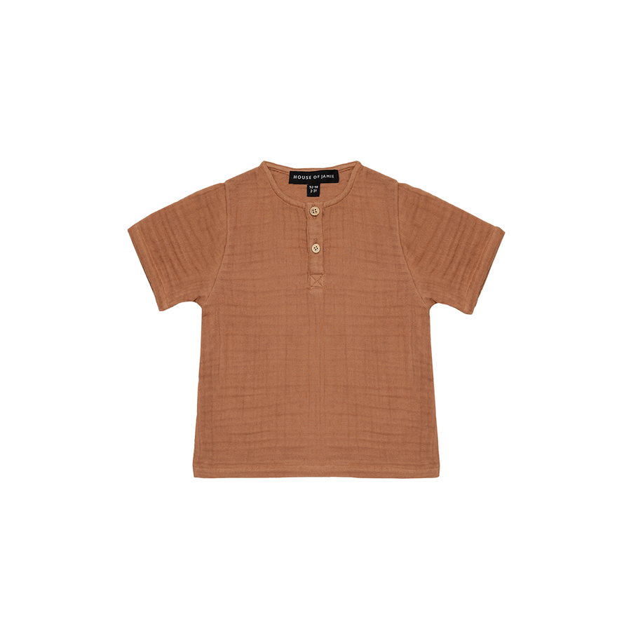 Henley Shirt Burnt Ginger