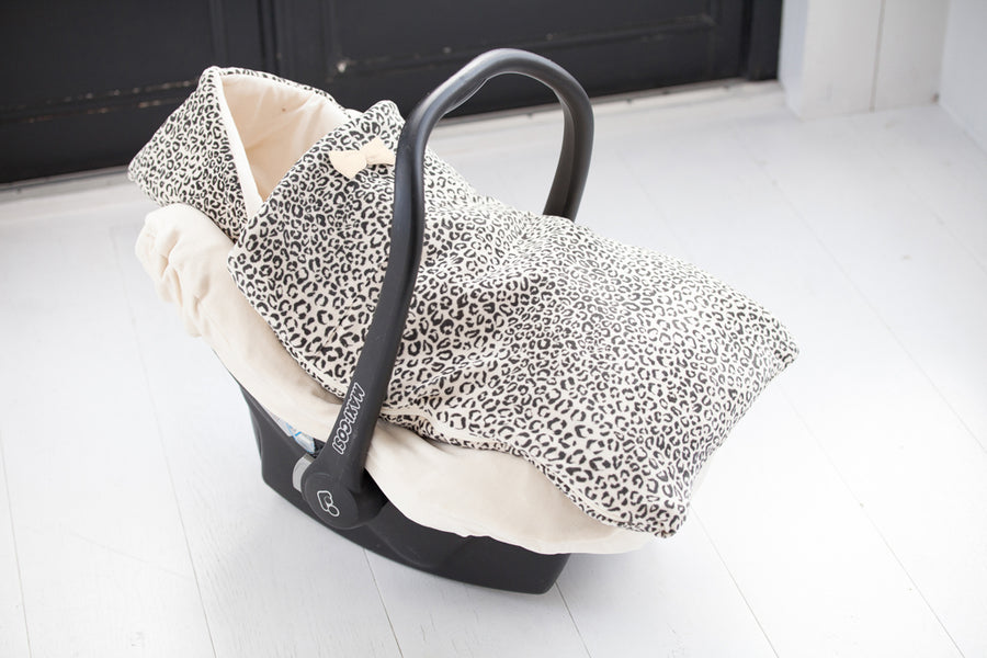 Car Seat Cover - Snow Leopard Velvet