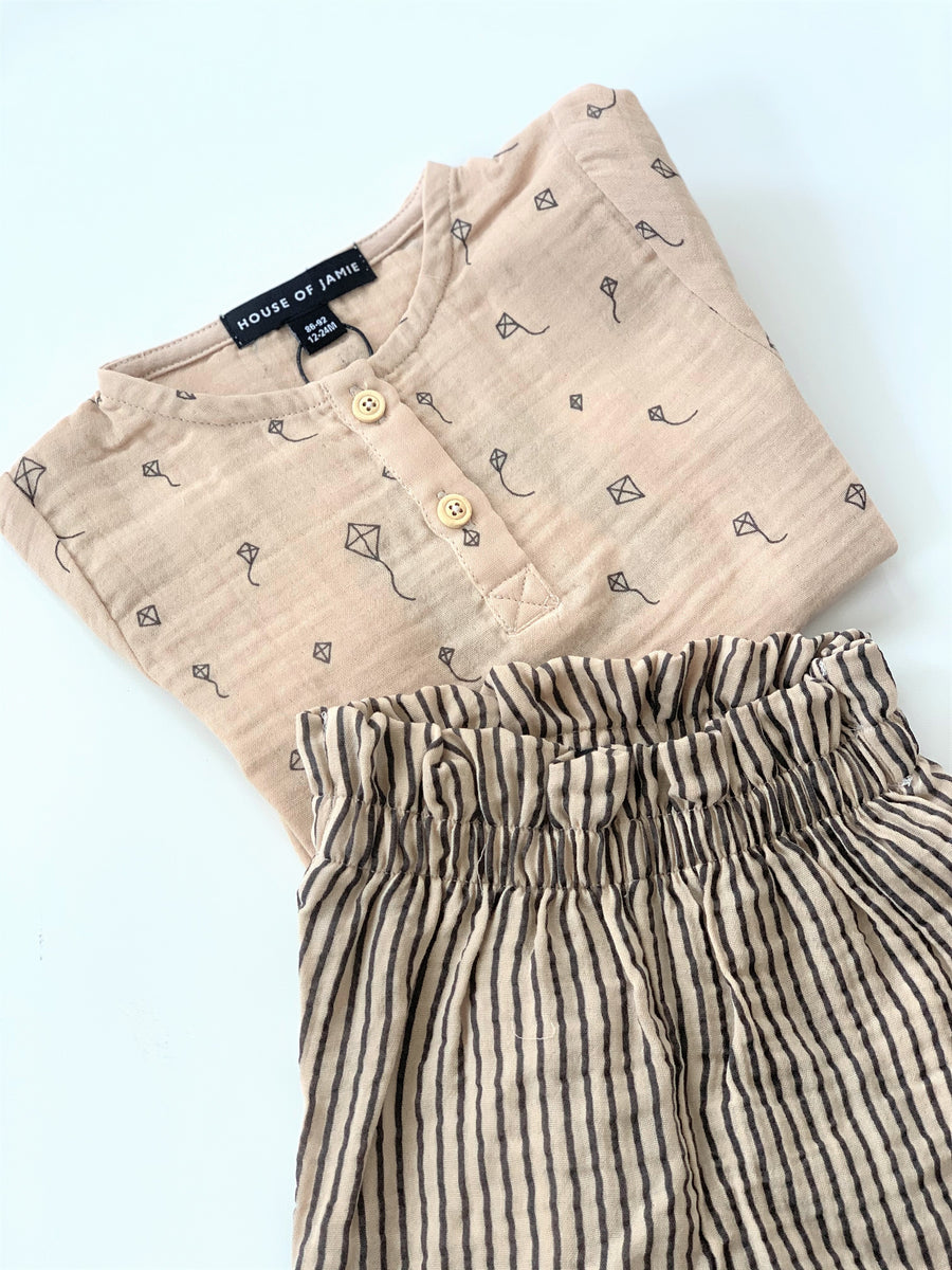 Summer Paperbag Pants - Stripes