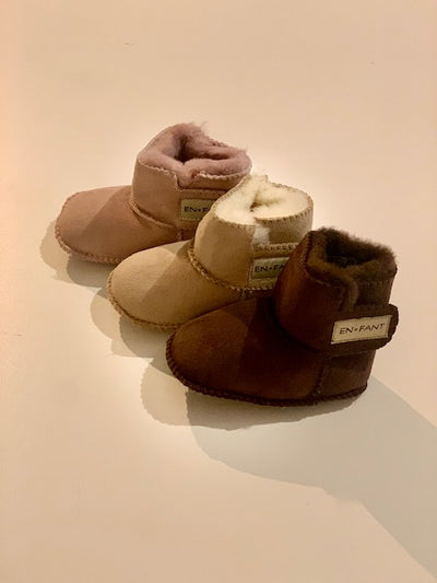 Sheepskin Bootie Old Rose