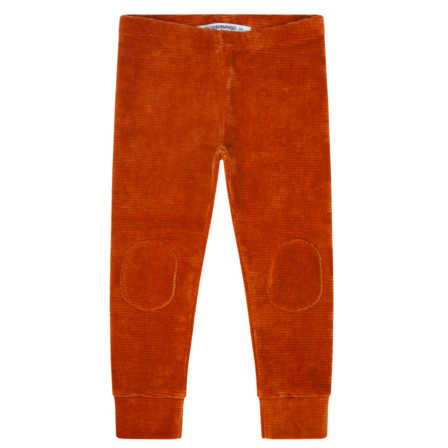 Legging Rib Velvet Leather Brown