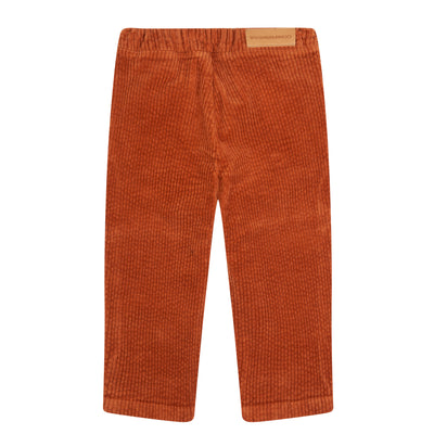 Mingo Rib Broek Red Wood
