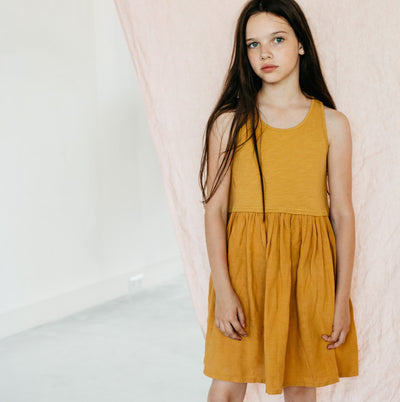 Sleeveless Dress Spruce Yellow