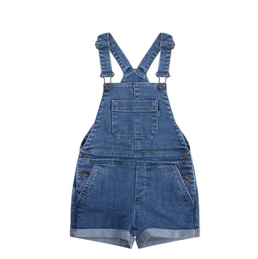 Short Dungaree Blue Denim