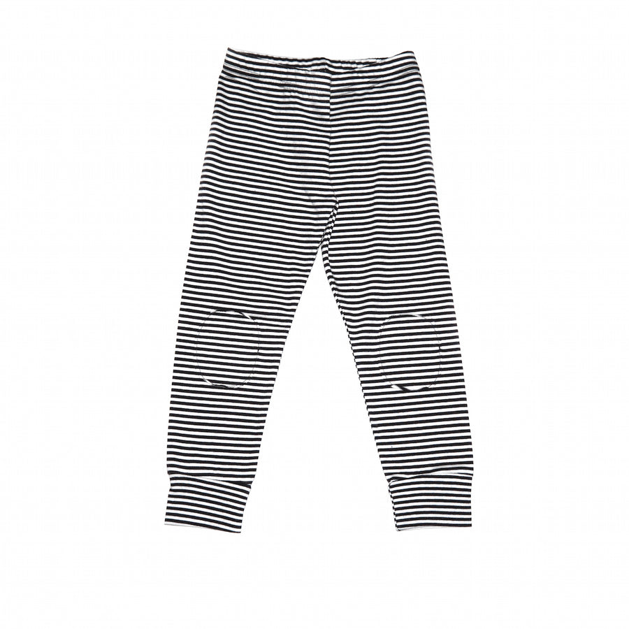 Mingo Legging Black/White stripe voorkant