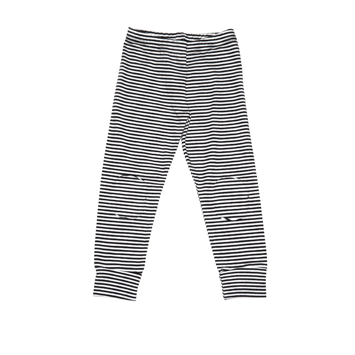 Winter Legging Black/White stripe