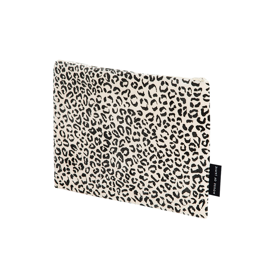 On The Go Clutch - Snow Leopard