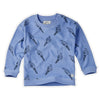 Sweatshirt Terry Icecream Bright Blue