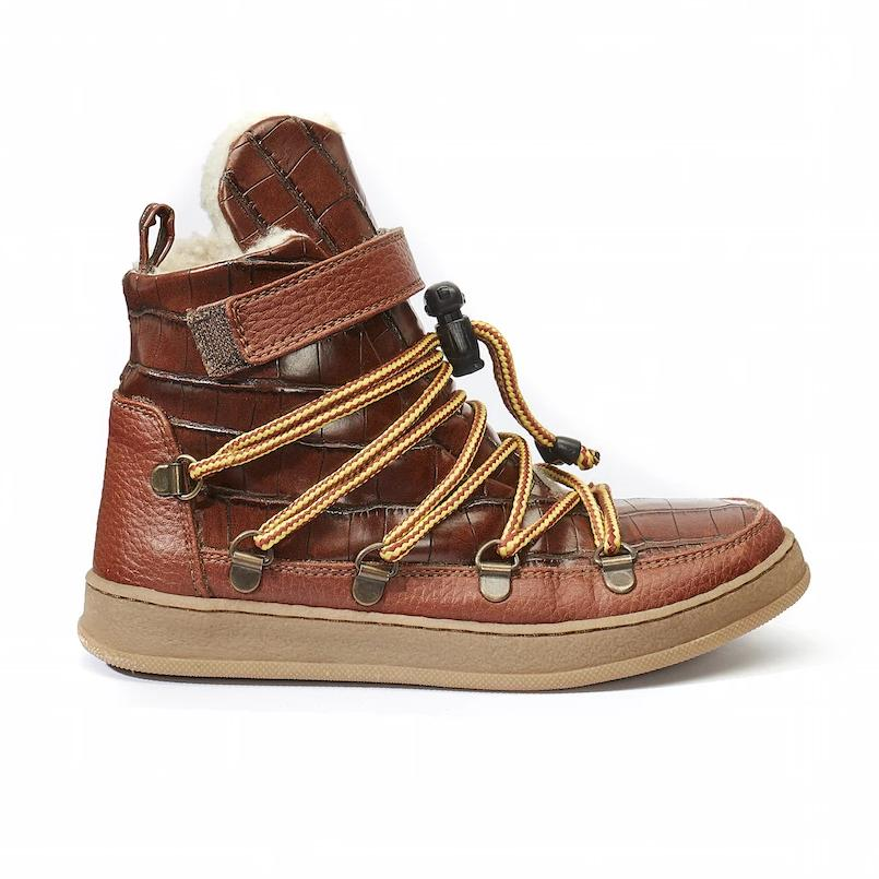 Snowboots Brown Croco