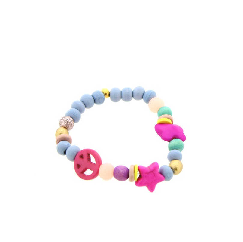Armband Happy Kids Blauw