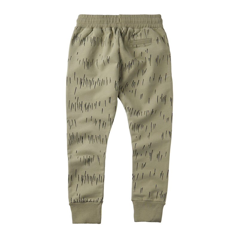 Slim Fit Jogger Grass Print Oak