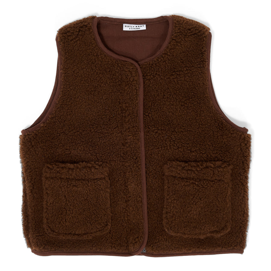 Teddy vest Walnut
