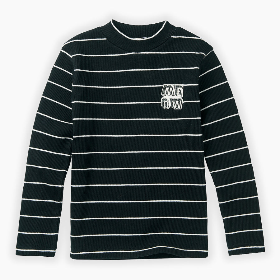 T-shirt Turtleneck Stripe