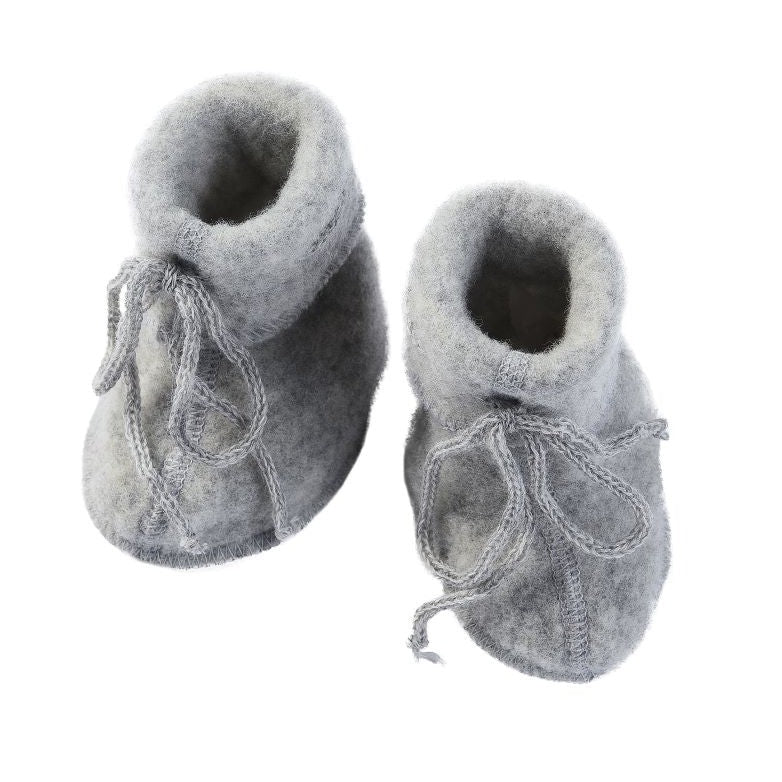 Engel Natur wolfleece baby slofjes - light grey