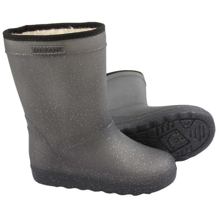 Thermoboots grijs glitter