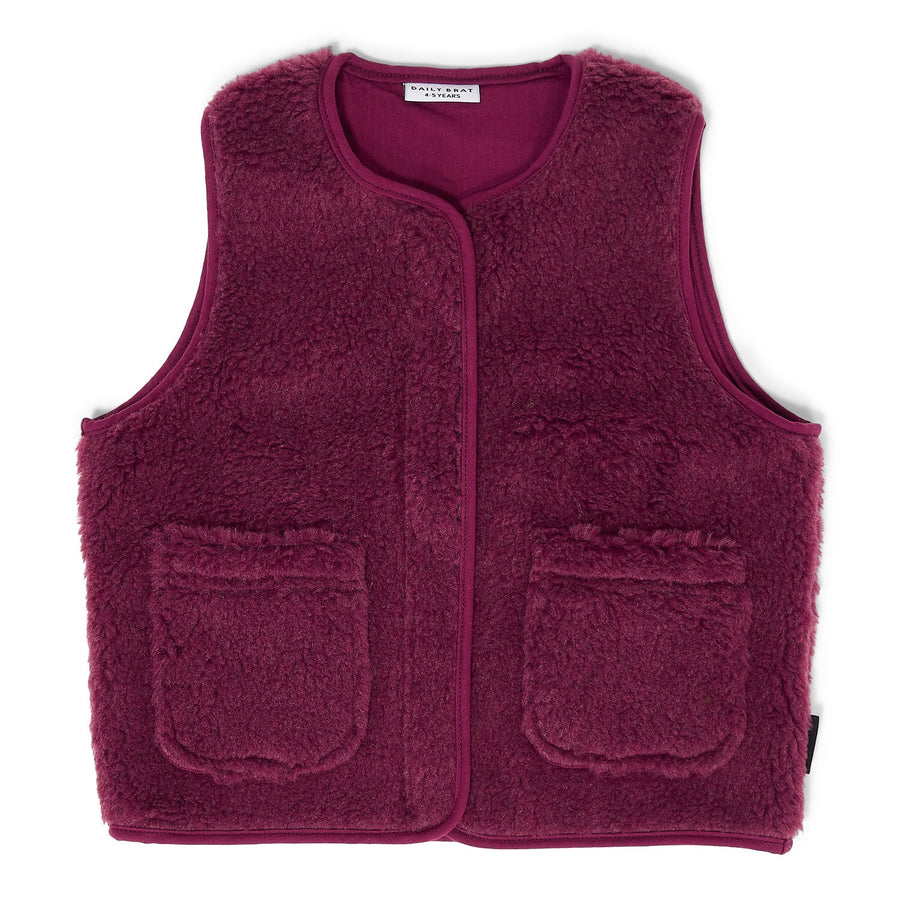 Teddy vest Mulberry
