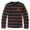 T-shirt Turtle Neck Stripe Chocolate