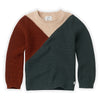 Sweater Colourblock Dusty Green