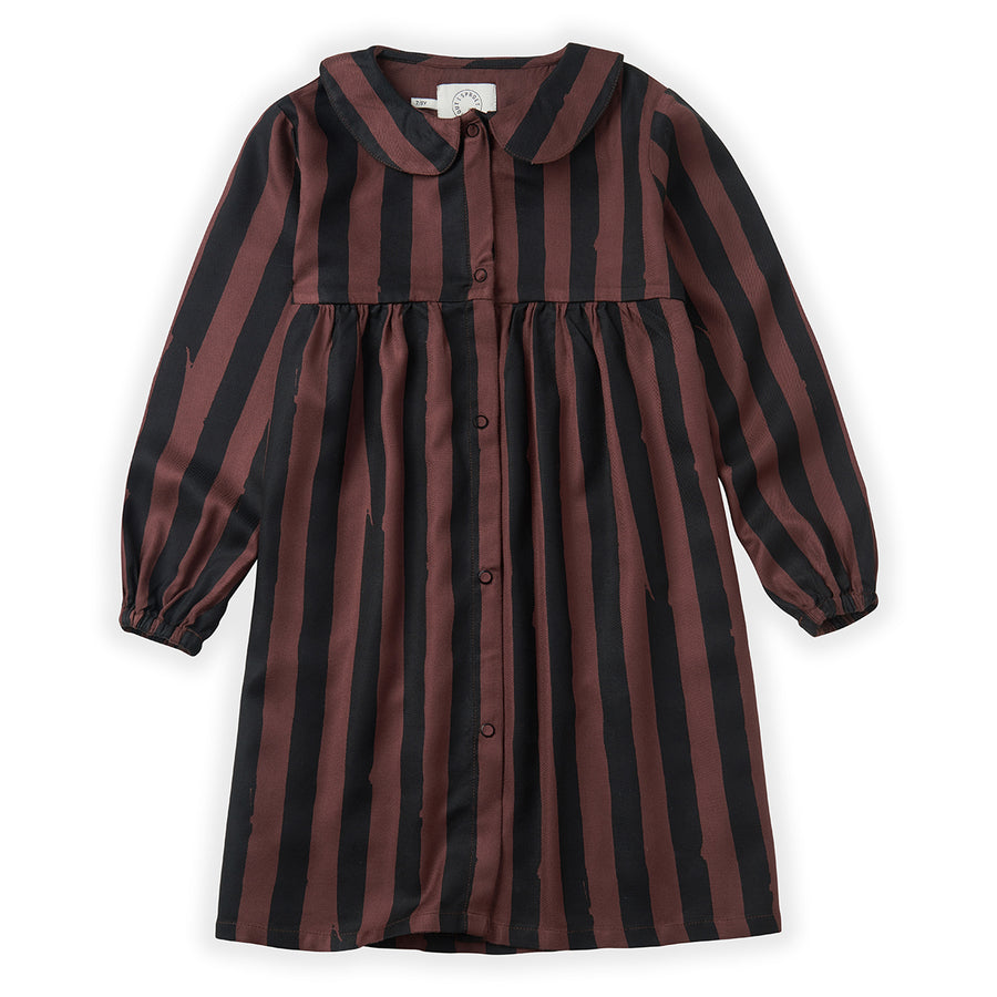 Jurk Painted Stripe Chocolate
