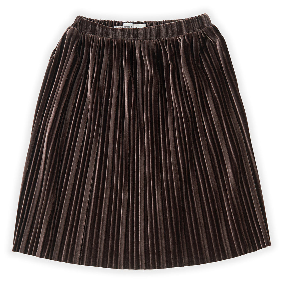 Rok Velvet Pleats Chocolate