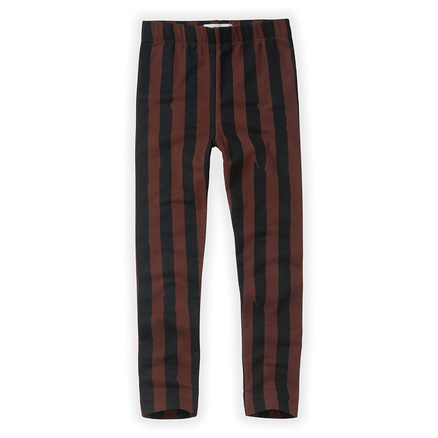 Legging Painted Stripe Chocolate
