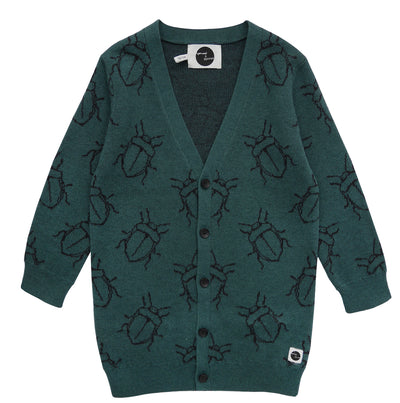 Vest Bugs Allover Dark Forrest Green