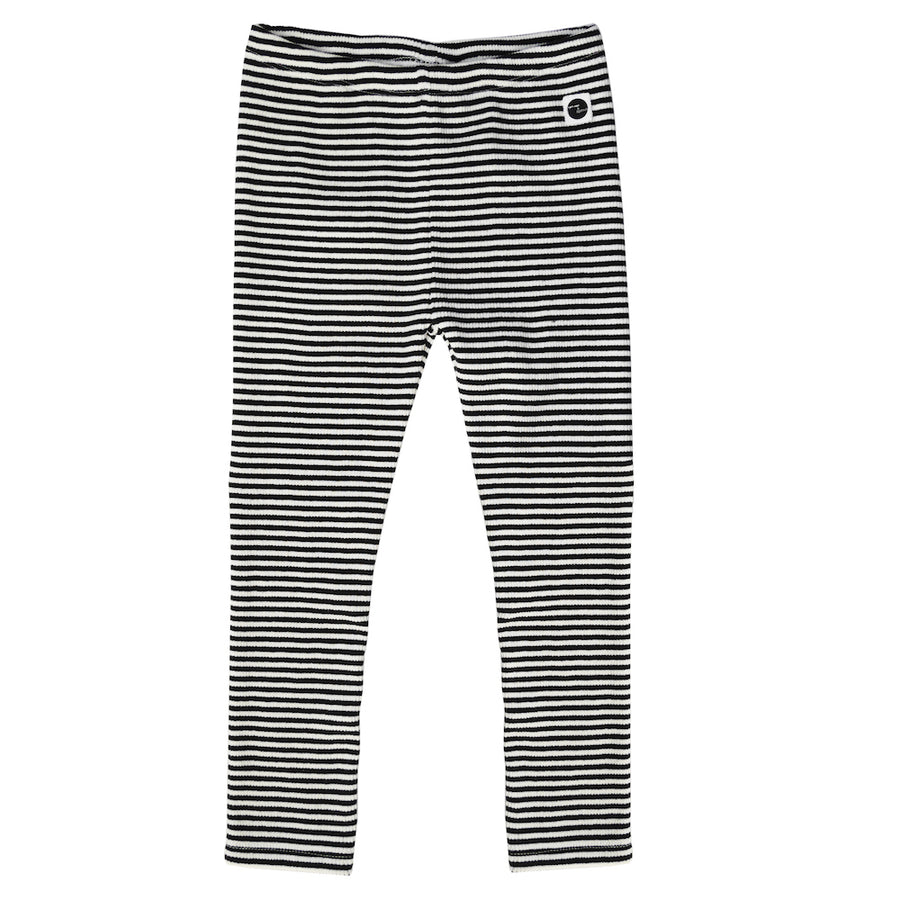 Legging Black & Milk Stripe