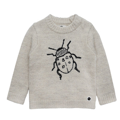 Sweater Beetle Embroidery Milk