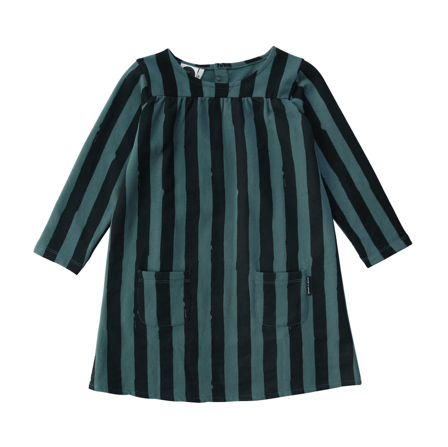Sweatjurk Black & Forrest Green Stripe