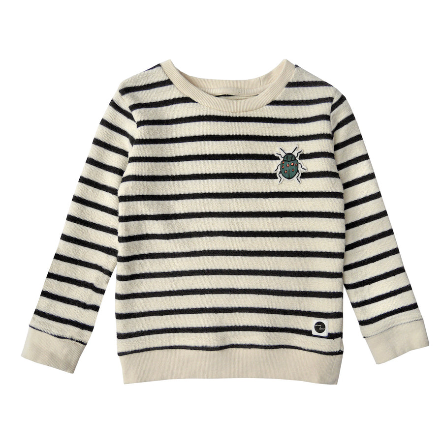 Sweater Beetle Badge Milk & Black Stripe
