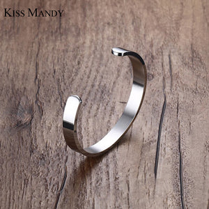 Bangle Stainless Steel Bracelet Men Silver/ Gold / Black 3 Color