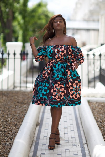 Yinks Midi off the shoulder Dress